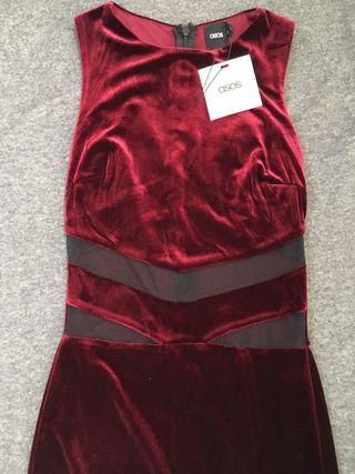 NEW long party velvet dress
