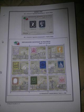 albun de sellos de ITALIA hojas en tamaño din A4