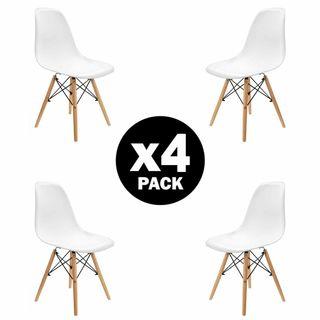 Pack 4 sillas de comedor Blanca