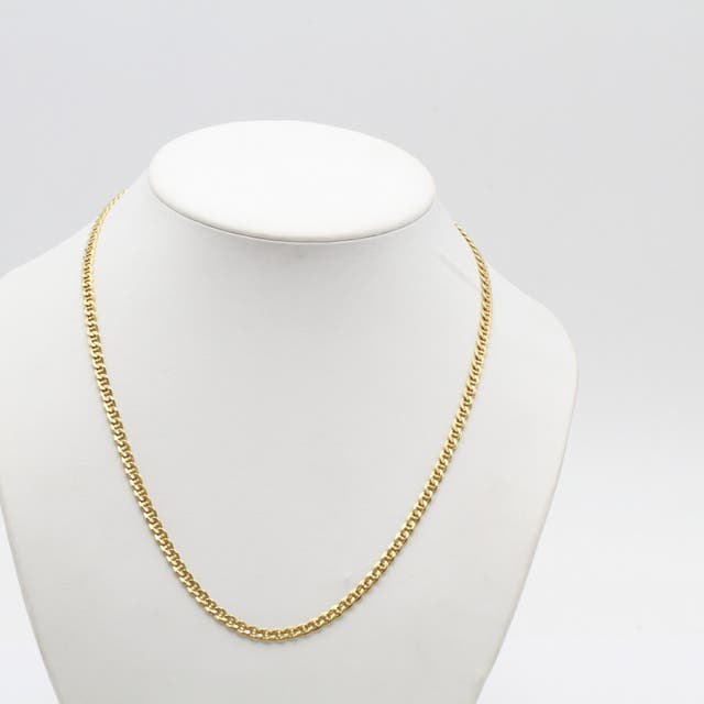 Cadena marina plana de oro de segunda mano G102748