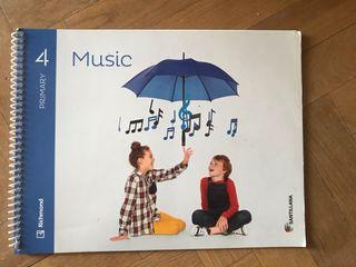 Libro Music (Música) 4 primaria Ed Santillana
