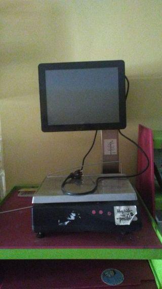 máquina TPV con balanza