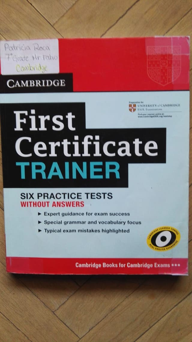 Libro del B2 First Certificate Cambridge