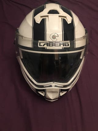 Casco caberg duke legend white-black talla M
