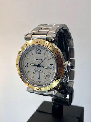 Reloj Cartier Pasha Power Reserve. Acero/Oro18kt.