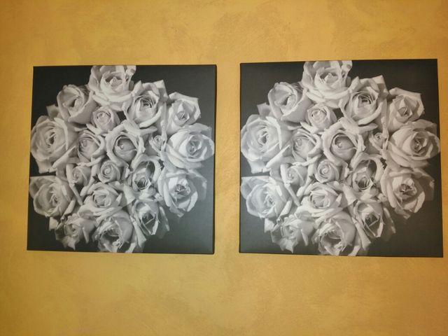 Cuadros flores blancas