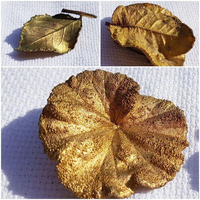 Broches antiguos bañados en oro