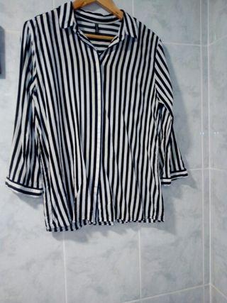 Blusa rayas blancas/negras