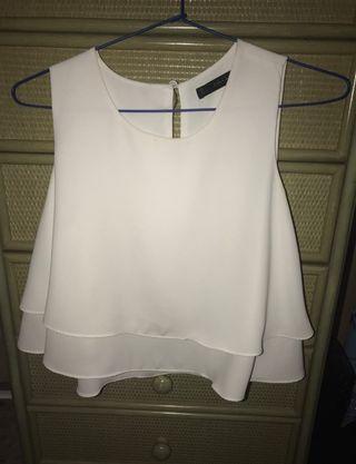 Blusa Blanca zara S