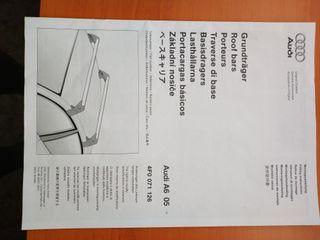 Barras techo Audi A6 más accesorios