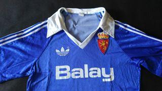 camiseta real Zaragoza match worn Mejías 1987