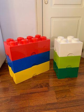 Cajas con forma de pieza de Lego