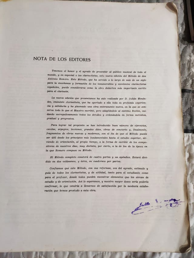 MÉTODO COMPLETO PARA CLARINETE- A. ROMERO (1988)