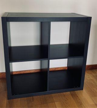 KALLAX - Estantería negra 77x77 - Ikea
