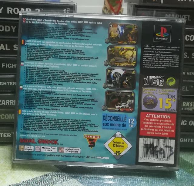 Guilty Gear pal España completo playstation 1 Ps1