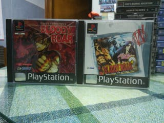Bloody Roar 1 y 2 Pal completos Ps1 Psx