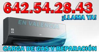 CARGA DE GAS Y REPARACIÓN DE AIRE ACONDICIONADO
