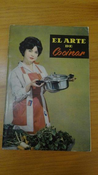 """Libro antiguo"""" El arte de cocinar"""""""