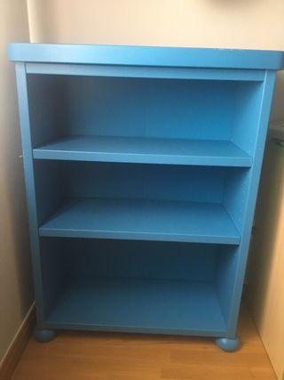 Librería mamut ikea color azul