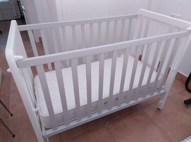 Cuna 120x60 cm blanca osito
