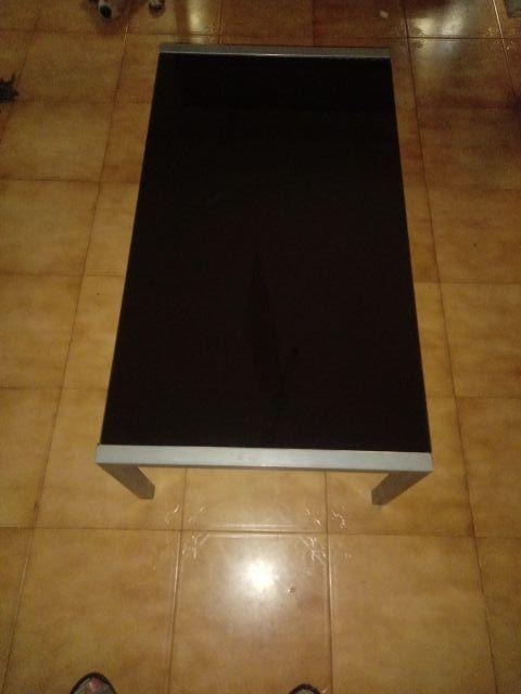 Mesa pequeña de cristal para comedor