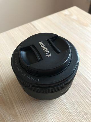 Objetivo Canon 50mm.