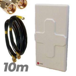 Antena 4G Wonect 50dBi Blanca Conectores N 10 metr