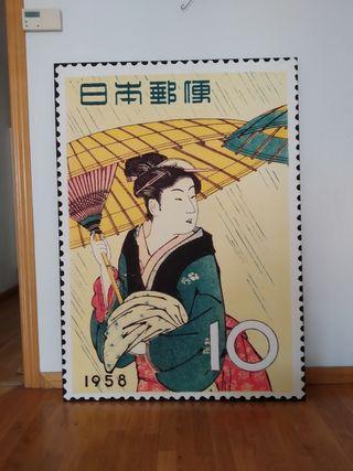 Cuadro grande geisha
