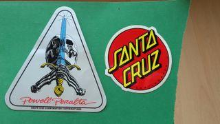 Pegatinas Skate Santa Cruz y Powell Peralta