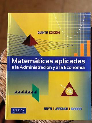 Matemáticas aplicadas a la Administracion y a la