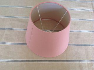 Pantalla lampara rosa