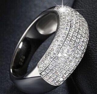 Anillo plata con Cristales
