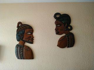 Mascaras de madera africana.