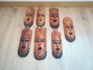 máscaras africanas decoración.