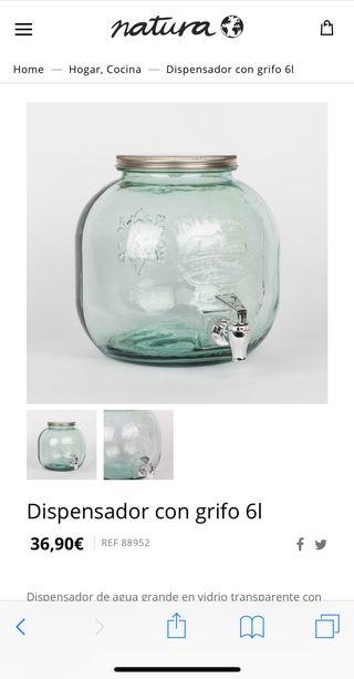 Dispensador de cristal para bebidas