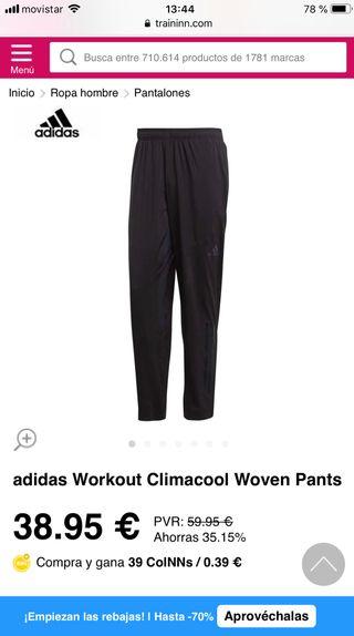 Pantalón de Hombre Workout ClimaCool Adidas