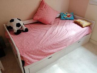 Cama extensible + colchón 90 cm 80 cm 135 cm