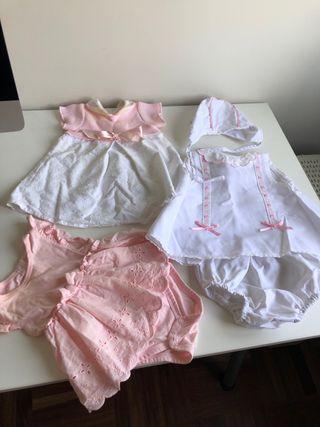 Lote vestidos bebé 1-3 meses