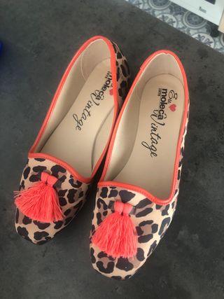 Manoletinas leopardo 39