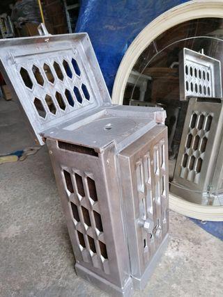 estufa de hierro de fundición