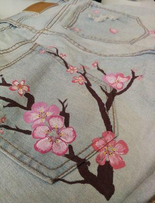 Pantalon de tejano corto