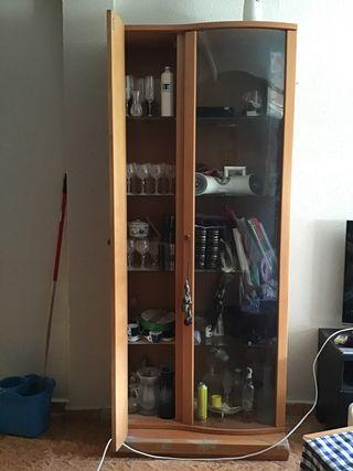 Mueble modular de salón madera de haya