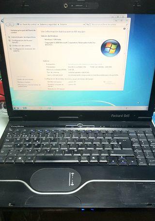 portátil Packard Bell Intel dual core