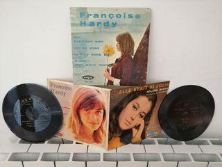 Antiguos vinilos en francés singles