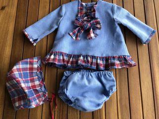 Vestido 3 piezas bebé