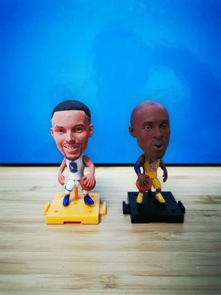 Figuras articuladas muy realistas NBA Curry Bryant