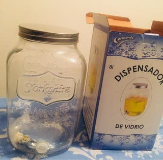 Dispensador de bebidas de vidrio
