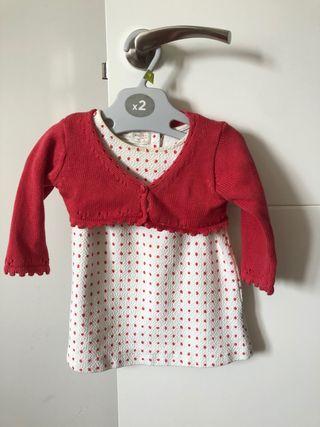 Vestido bebé niña con chaqueta neck&neck