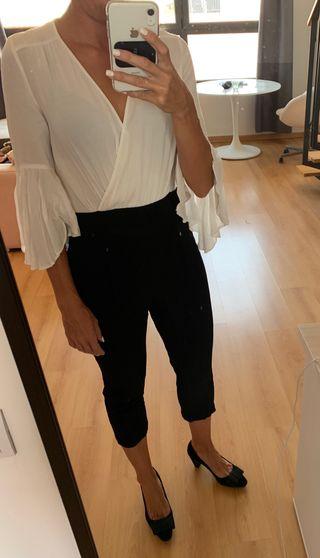 Mono blanco y negro Zara