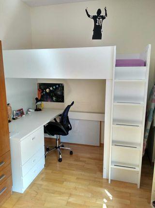 Cama alta Stuva Ikea